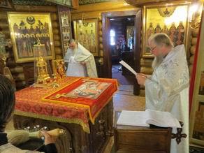 Освящение нового престола в Богоявленском храме